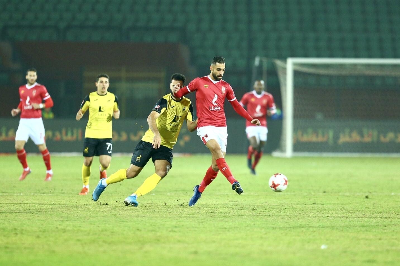 الأهلي يتصدر الدوري الممتاز عقب فوزه بثلاثية في مباراة دجلة