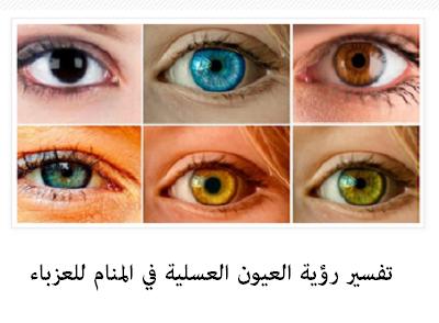العيون العسلية وتفسير رؤيتها في المنام